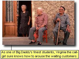 As one of Big Daddy's finest students, Virginia the call girl sure knows how to arouse waiting customers.
